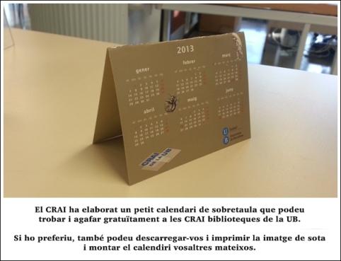 calendari 2013 doblegat